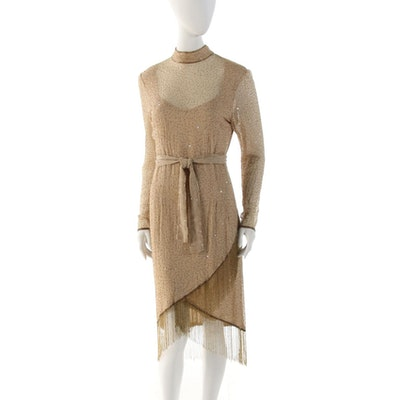 1920s Vintage Art Deco Hand Beaded Evening Dress Ebth