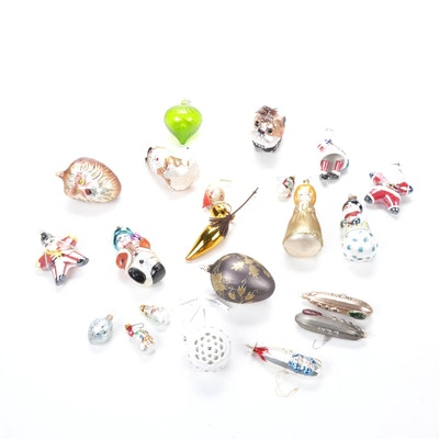 Pandora, Radko, Czech Republic and West German Blown Glass Ornaments