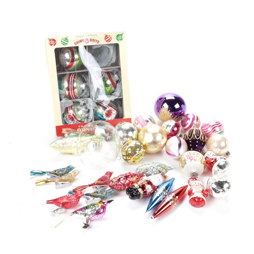 Radko, Shiny Bright and Kugel Style Glass Ornaments