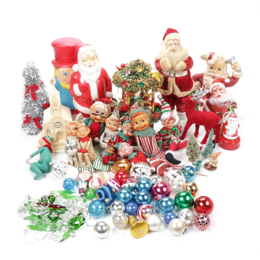 Harold Gale Santa, Elves, Musical Carousel and More Vintage Christmas