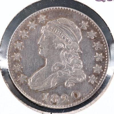 1820 Capped Bust Silver Quarter
