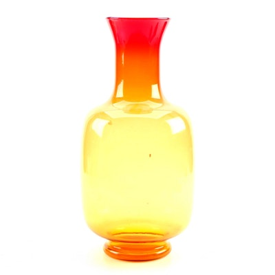 Blenko Style Amberina Glass Vase