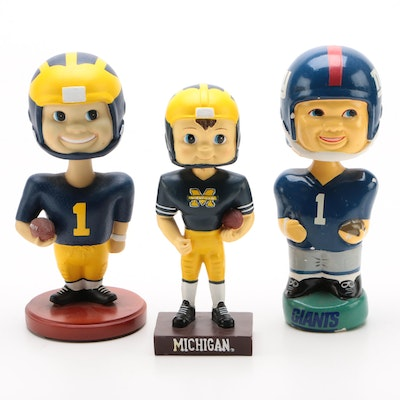 Michigan and the New York Giants Bobbleheads