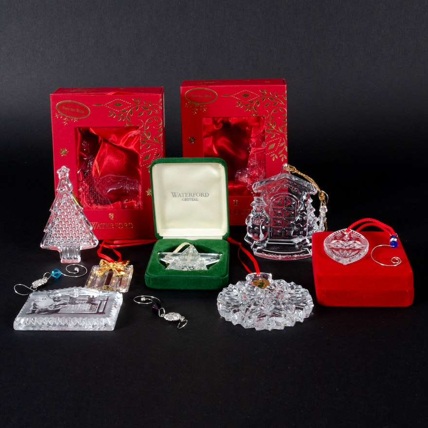 """Waterford Crystal """"Bless Our Home"""" and Other Holiday Ornaments"""