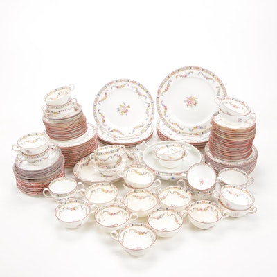 "Minton ""Rose"" Porcelain Dinnerware, Early 20th Century"
