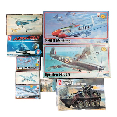 Aircraft and Other Military Plastic Model Building Kits, Late 20th Century