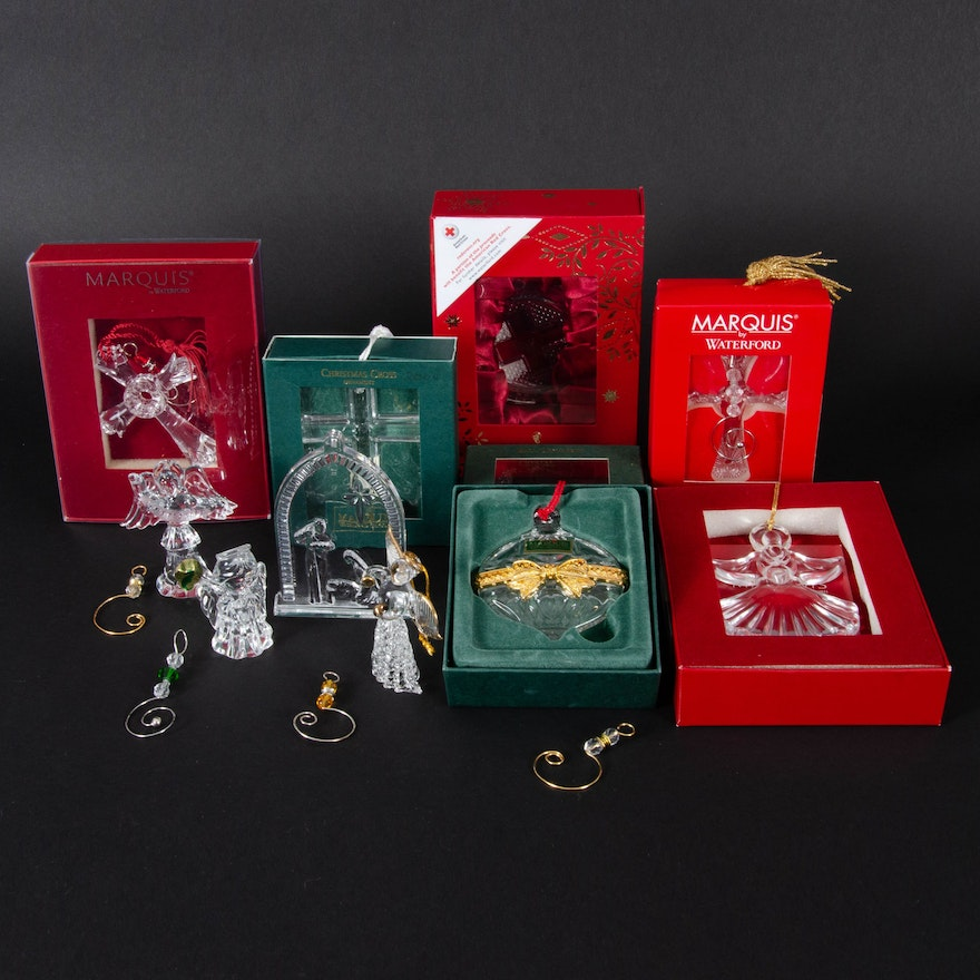 Waterford and Marquis by Waterford Crystal Holiday Ornaments