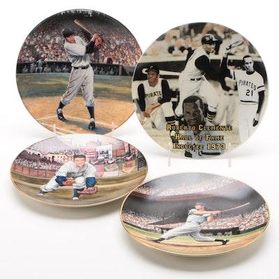 Martin, Clemente, Thomson and DiMaggio Commemorative Plates