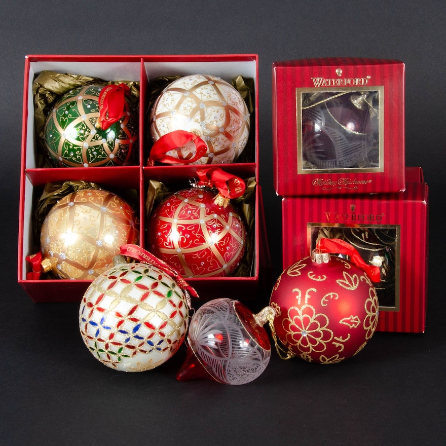 "Waterford Crystal ""Holiday Heirloom"" Christmas Ornaments"