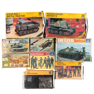 Modeling Kits Including Military Vehicles and Tanks with Soldiers
