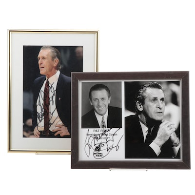 Framed Pat Riley Signed Pictures