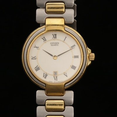 Citizen Two Tone Quartz Wristwatch with Date