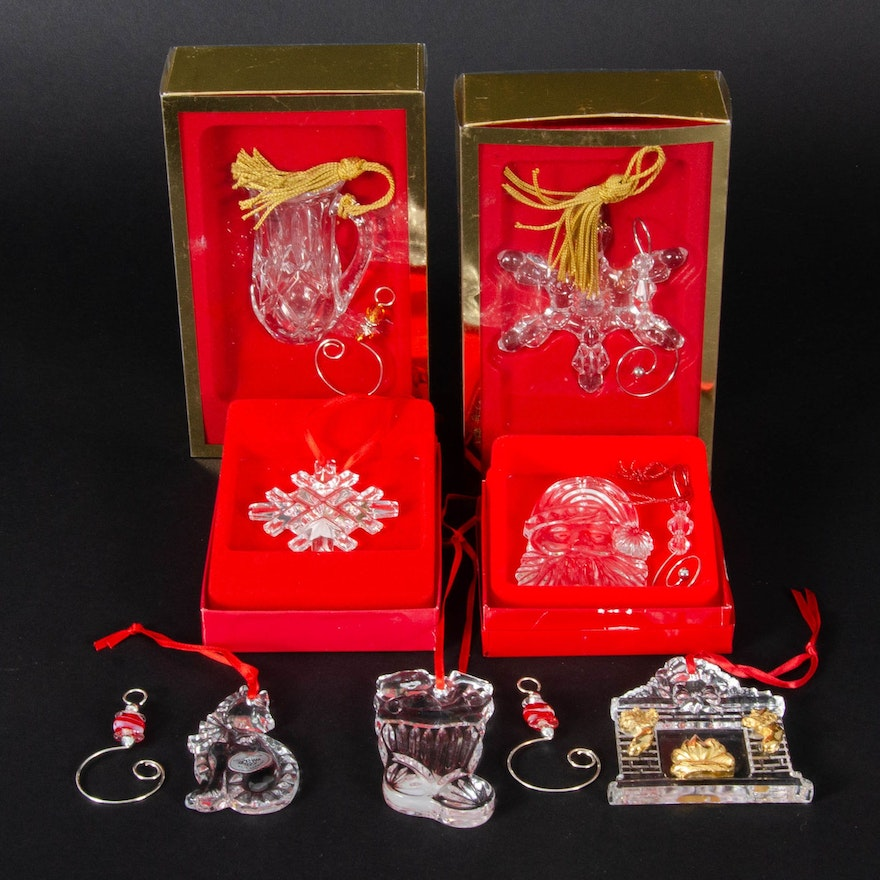 Gorham Crystal Holiday Ornaments