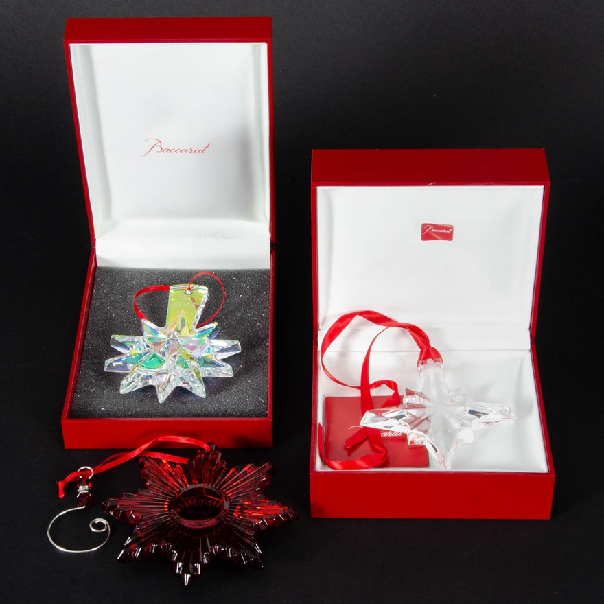 Baccarat Crystal Annual Snowflake Ornaments
