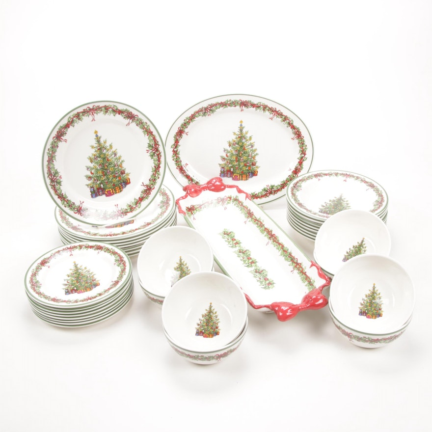 "Christopher Radko ""Holiday Celebrations"" Earthenware Dinnerware"