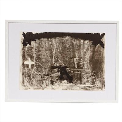 """Antoni Tàpies Double-Page Lithograph for """"Derrière le Miroir"""""""