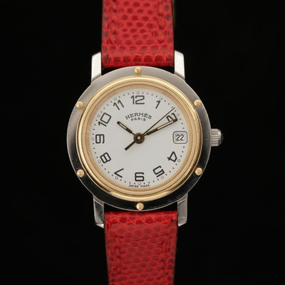 Hermès Clipper Two Tone Quartz Wristwatch