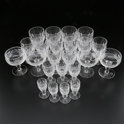"Waterford Crystal ""Colleen"" Stemware Including Clarets, Sherry Glasses, and More"