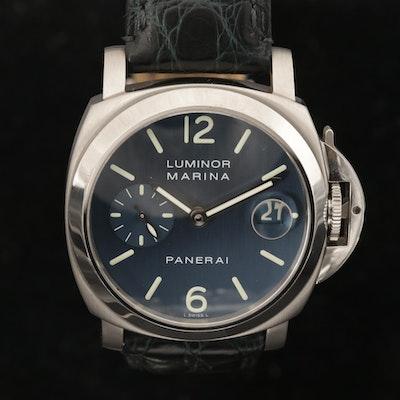 Panerai Luminor Marina PAM119 Stainless Steel Automatic Wristwatch, 2002
