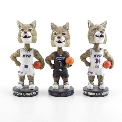 """New York University """"Bobcats"""" Mascot Bobblehead Dolls, Contemporary"""