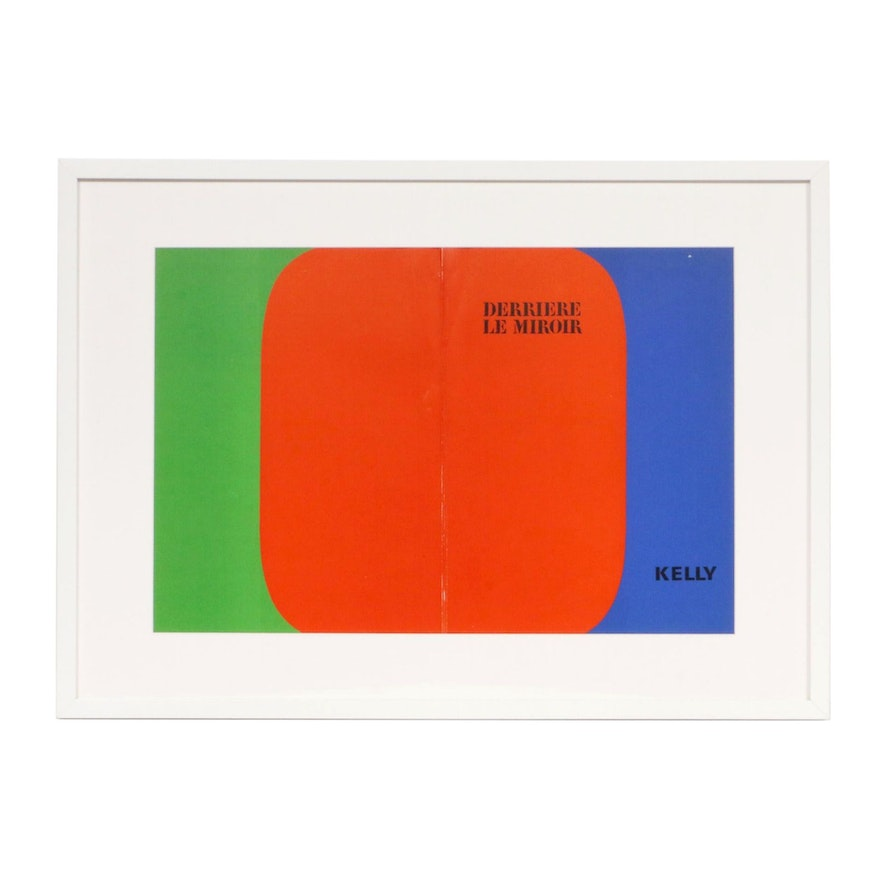"Ellsworth Kelly Double-Page Color Lithograph for ""Derrière le Miroir,"" 1964"