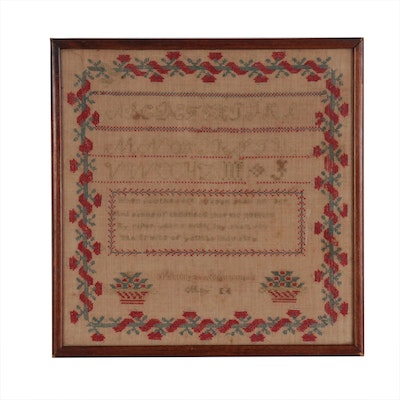 Matilda Johnston American Needlework Sampler, Early 19th Century