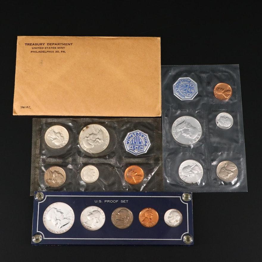 Four U.S. Mint Proof Coin Sets