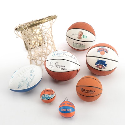 Basketball and Football Items, Some Autographed