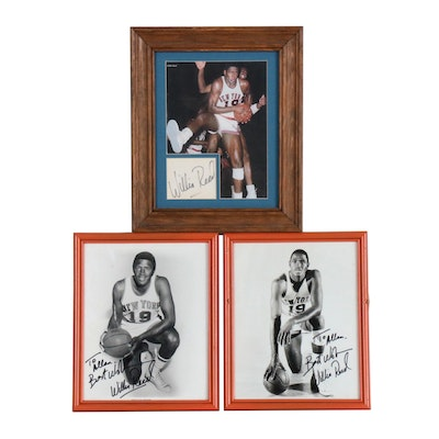 Framed Willis Reed Signed Pictures