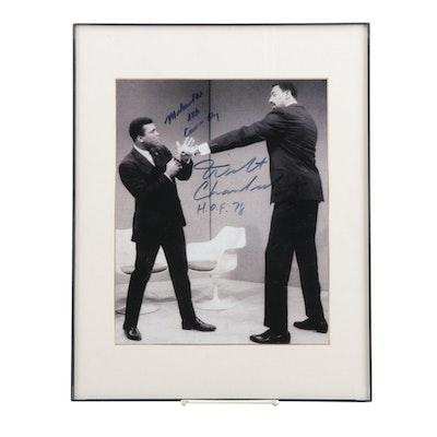 Muhammad Ali and Wilt Chamberlain Signed Photo Print  COA