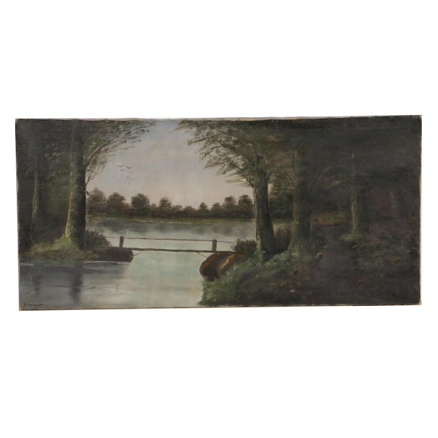 Landscape Oil Painting, Early to Mid 20th Century