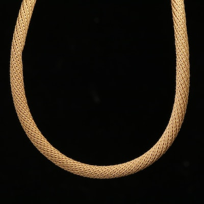 14K Yellow Gold Wrapped Wheat Chain Necklace