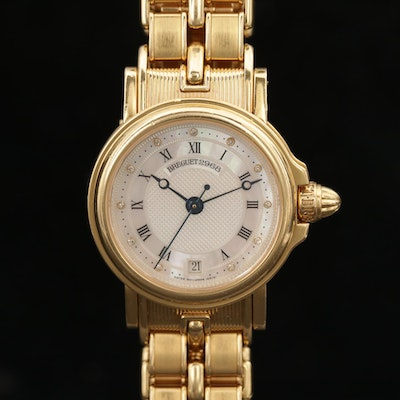 Breguet Marine Automatic 18K Yellow Gold Wristwatch with Diamond Dial, 1998
