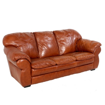 Leather Sofa, Contemporary