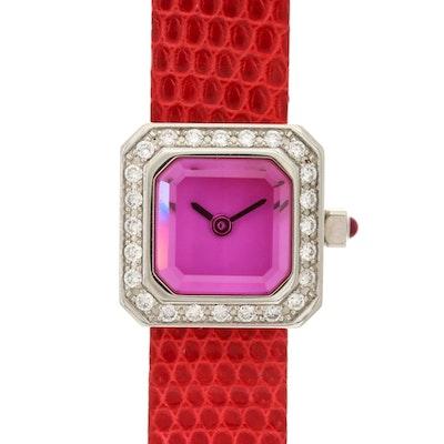 Corum Sugar Cube Stainless Steel and Diamond Quartz Wristwatch