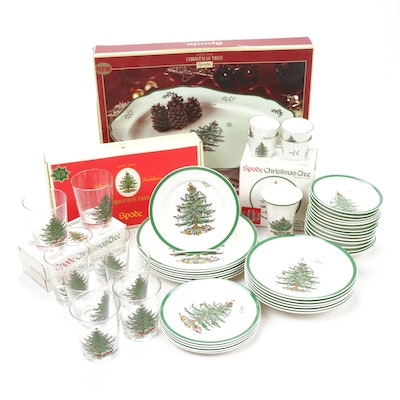 "Spode ""Christmas Tree"" Earthenware Dinner and Serveware"