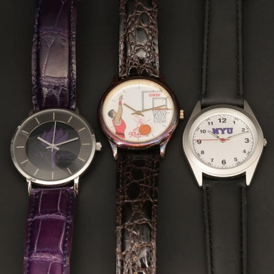 New York University and University of Nevada Quartz Wristwatches