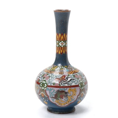 Japanese Cloisonne Bud Vase, Antique