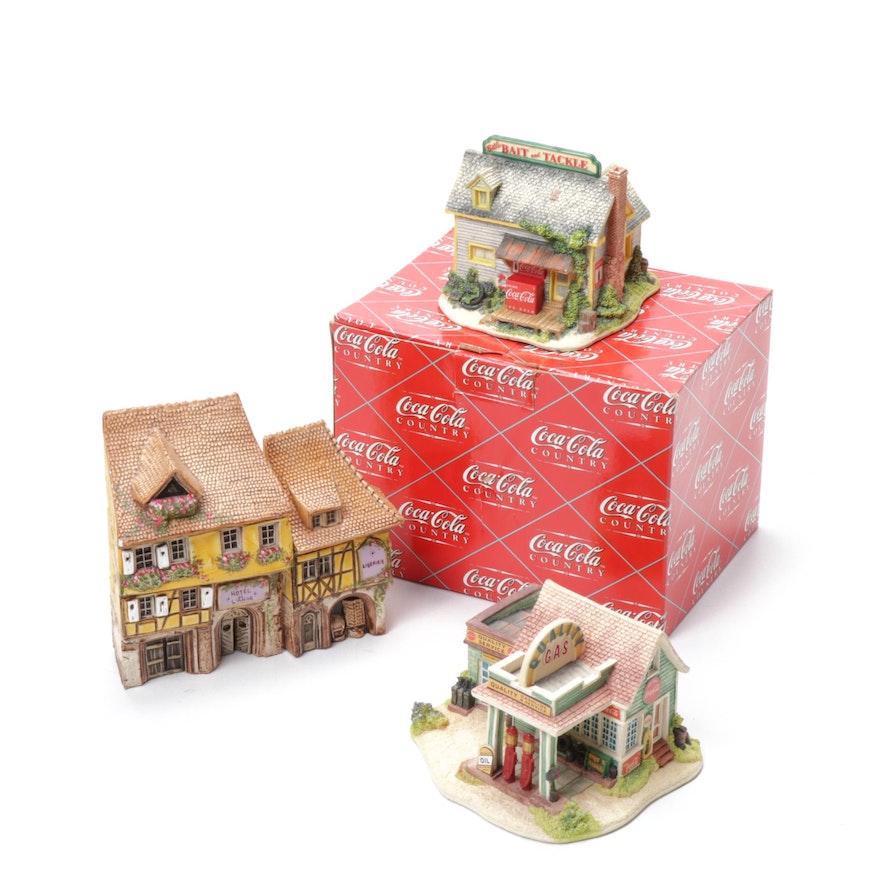 Lilliput Lane Limited Edition Coca-Cola and Michel Dupuy Miniatures