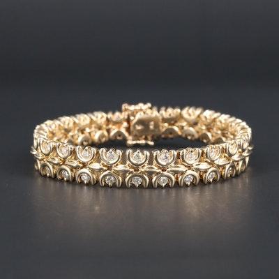 14K Yellow Gold 3.38 CTW Diamond Bracelet