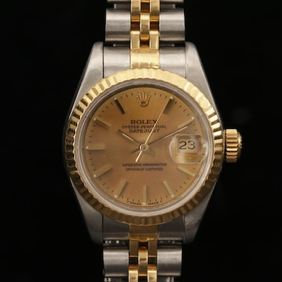 Vintage Rolex Datejust 18K Gold and Stainless Steel Automatic Wristwatch