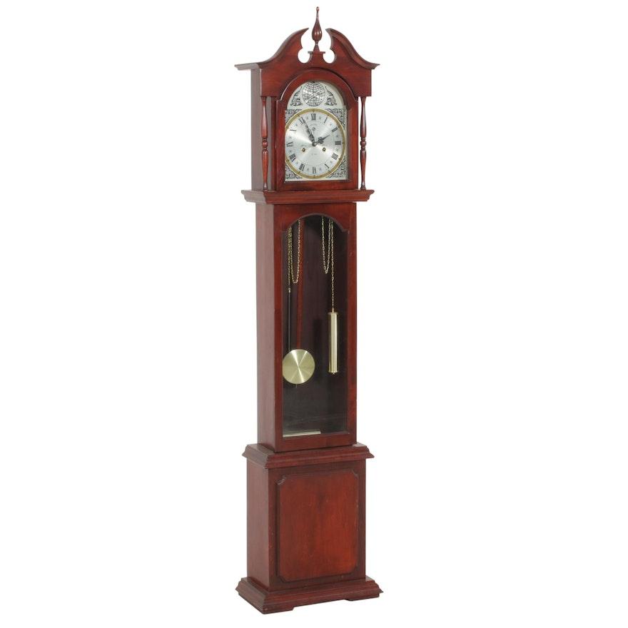 """Polaris """"Tempus Fugit"""" Cherry Wood Cased Grandfather Clock"""