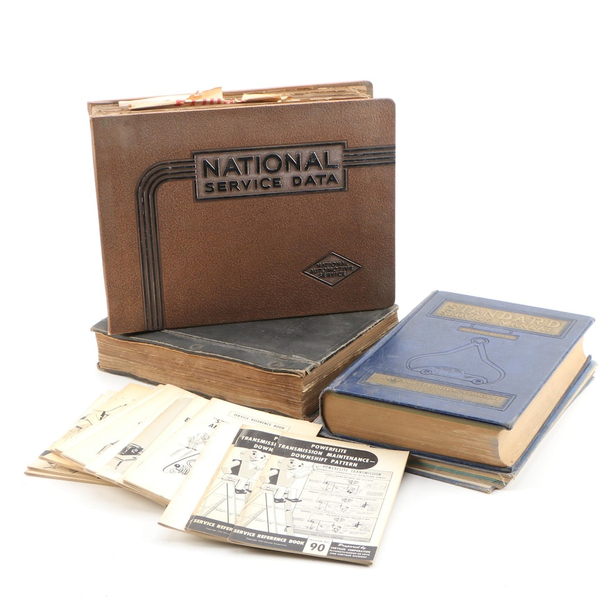 Automotive Service Manuals and Reference Books