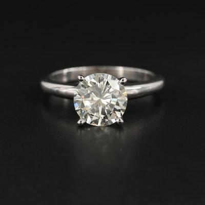 Platinum 2.11 CT Diamond Solitaire Ring