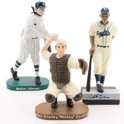 Monte Irvin, Walter Johnson and Mickey Cochrane Limited Figures
