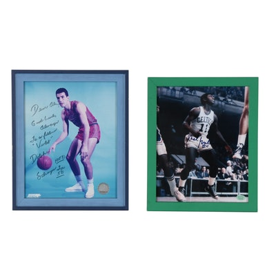 Mal Graham and Dolph Schayes Signed NBA Framed Photo Prints