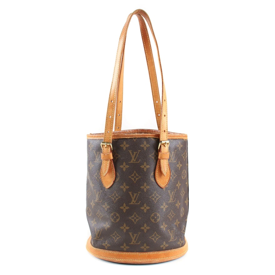 Louis Vuitton Petit Bucket Bag in Monogram Canvas and Vachetta Leather