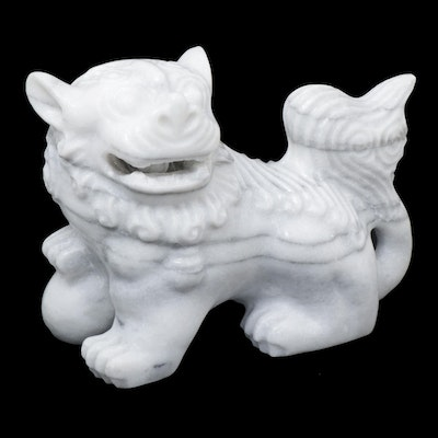 Chinese Stone Guardian Lion Figure