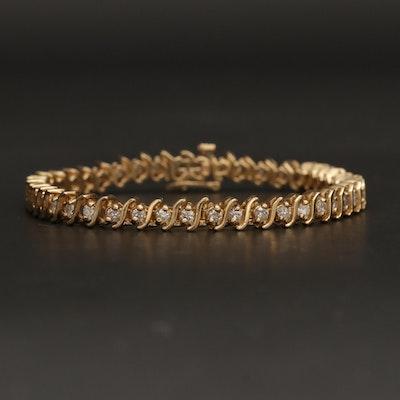 14K Yellow Gold 2.31 CTW Diamond Bracelet
