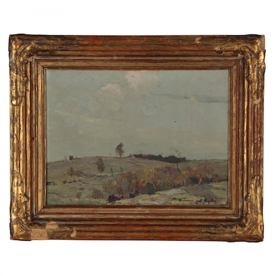 Chauncey Foster Ryder American Landscape Oil Painting, Circa 1920